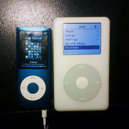 My two iPod's side-by side.