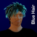 Blue Hair Square